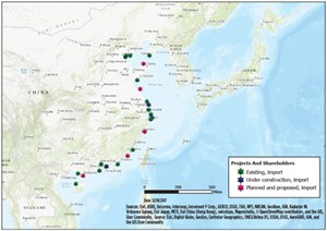 FIG. 4. LNG import terminals in China. Source: Energy Web Atlas.