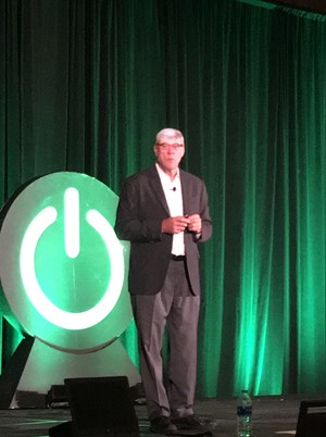 FIG. 1. Gary Freburger, CEO and President, Process Automation, Schneider Electric, spoke about the company's high-level strategy and vision.