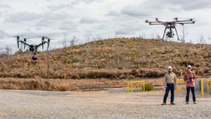 Drones are used to inspect a BPX Energy site in East Texas, US (Photo Source: BP)