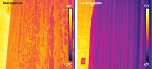 Fig. 4. Comparison of IR thermography images.
