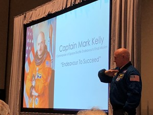 Captain Mark Kelly, NASA Space Shuttle Commander