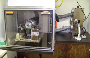 Fig. 3. Two-place HFRR lubricity test apparatus.